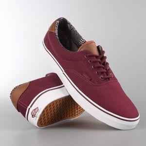 Vans era 59 C&L port royale sneaker shoes burgundy